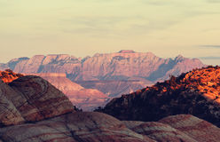Zion at sunset Royalty Free Stock Image