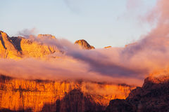 Zion at sunset Royalty Free Stock Images