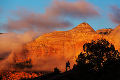 Zion at sunset Stock Photography