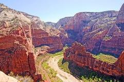 Zion Valley von der Engels-Landung Lizenzfreie Stockbilder