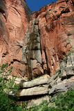 Zion Waterfall. Zion Canyon Waterfall stock images