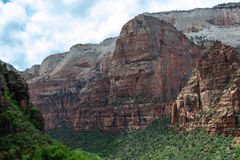 Zion from the weeping rock. Zion National Park is located near Springdale (Utah Stock Images
