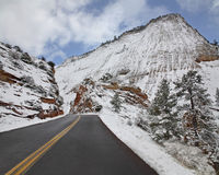 Zion In Winter Stock Images