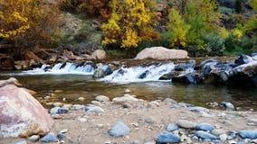Zions. River fall beautiful Stock Photo