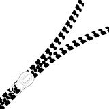 Zip. Vectorized Image of Zip in black and white Royalty Free Stock Photography