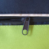 Zip. Per or  fastener joining two edges of fabric stock images