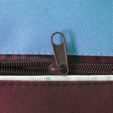 Zip. Per or  fastener joining two edges of fabric stock photo