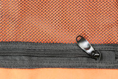 Zip archive of a minor. Zipper  of the bag is intended to secure Royalty Free Stock Images