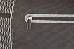 Zip on a bag Stock Photography