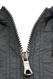 Zip of black jacket Royalty Free Stock Image