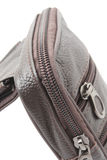 Zip of Black male leather bag Stock Images