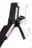 Zip black and whit Stock Photography