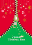 Zip Christmas abstract tree Stock Images