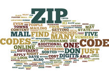 Zip Codes Text Background  Word Cloud Concept. ZIP CODES Text Background Word Cloud Concept Royalty Free Stock Images