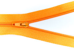 Zip. Colorful zip shooting in white background Stock Image
