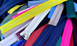 Zip different colors Royalty Free Stock Images