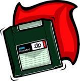 ZIP disk. Illustration Stock Photos