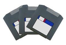 Zip disk. Set of 3 gray Zip disk Royalty Free Stock Photography