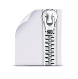 Zip file. Vector illustration of interface computer zip file icon Stock Photography
