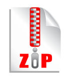 Zip file download. Vector icon Stock Photos