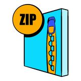 ZIP file icon cartoon Stock Image