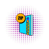 ZIP file icon in comics style Royalty Free Stock Photography