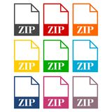 ZIP file icons set. Icon Stock Photography
