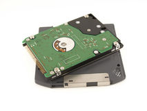ZIP floppy disk and HDD for notebook Royalty Free Stock Photography