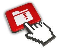 Zip folder Icon. 3D illustration of Zip Icon Stock Image
