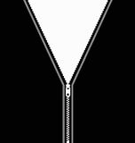Zip illustration. Illustration of clothing with zip Royalty Free Stock Photo