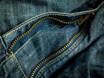 Zip jean. Concept worker style Stock Photo