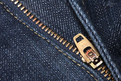 Zip jeans Royalty Free Stock Images