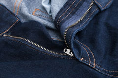 Zip jeans Royalty Free Stock Photography
