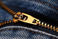 Zip jeans detail Stock Photos