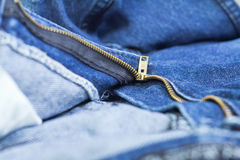 Zip in a jeans Stock Image