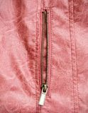 Zip on leather jacket Stock Photos
