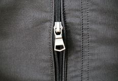 Zip on leather jacket Royalty Free Stock Photography