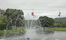 Zipline Adventure,  Michigan Stock Images