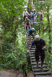 Zip line canopy tours in Costa Rica Stock Photo