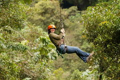 Zip Line Experience Royalty Free Stock Photo