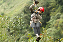 Zip Line Experience Royalty Free Stock Photography