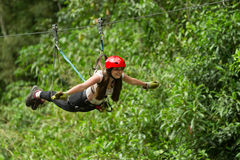 Zip Line Fun Royalty Free Stock Image