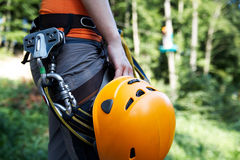 Zip-line gear Stock Photos