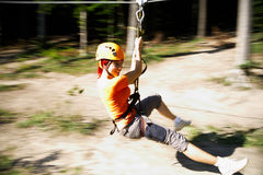 Zip-line gear Royalty Free Stock Images