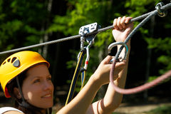 Zip-line Gear Stock Image