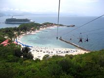 Zip Line. Zip lining in the Caribbean Royalty Free Stock Image