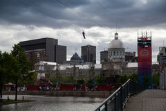 The zip line. In the old port Stock Images