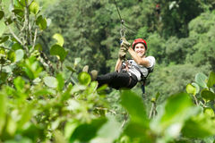 Zip Line Sequence Slide One Royalty Free Stock Image