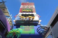 Zip-line tower Stock Photo