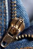 Zip On Jeans Stock Image
